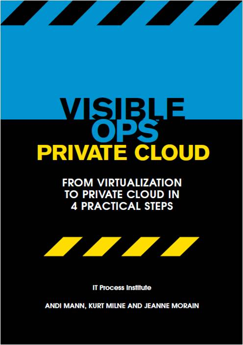 The front cover of Visible Ops Private Cloud
